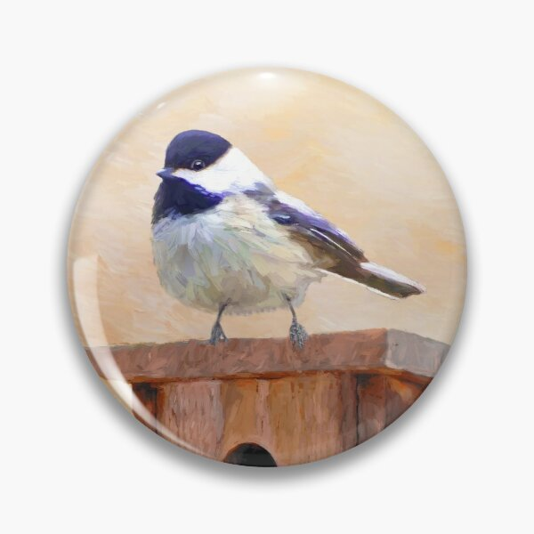 Black Capped Chickadee Pins And Buttons Redbubble