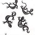 tribal lizards by Gez Sullivan