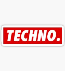 Techno. Sticker