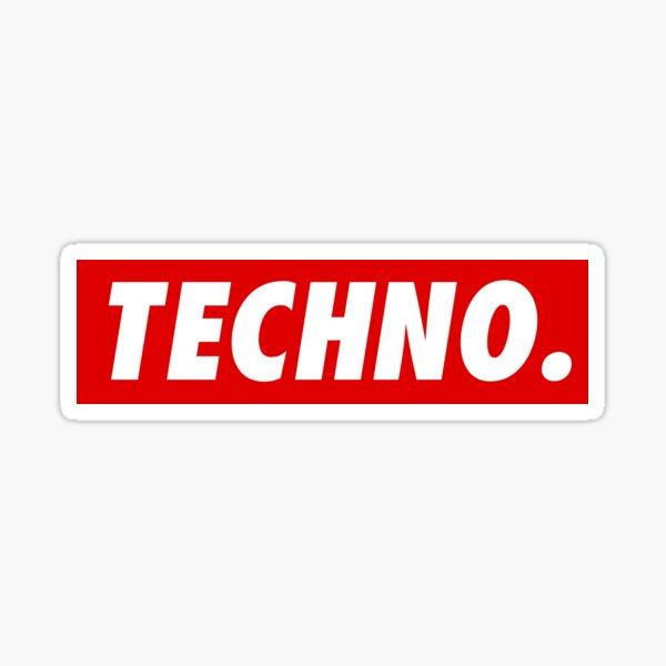 Techno. Pegatina