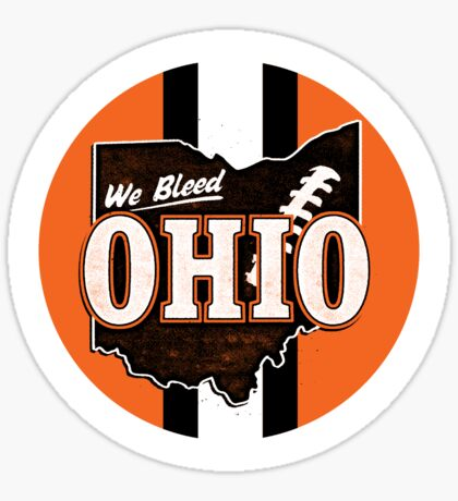 We Bleed Orange and Brown Sticker