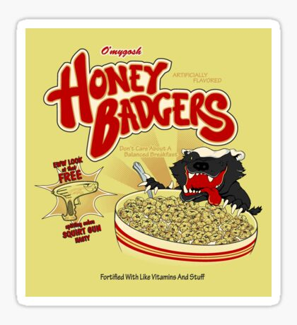 Honey Badgers Sticker