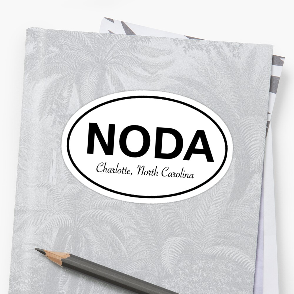 Quot Noda Charlotte North Carolina Quot Sticker By Ginamitch