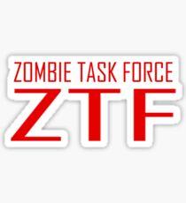 Zombie Task Force Tee Sticker