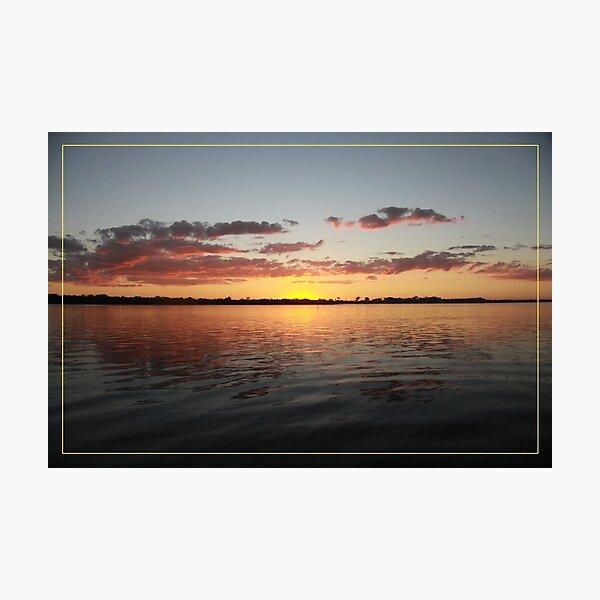 Sun has gone - calmness... Photographic Print