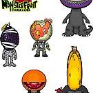 MonsterFruit Theater Small Sticker Sheet 2 by Allison Bair