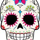 Sugar Skull CMYK ~ Sticker by hmx23