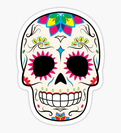Sugar Skull CMYK ~ Sticker Sticker