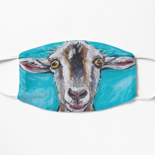 Cute Goat Art, Gizmo the goat Flat Mask