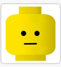 Bored Minifig Head, Customize My Minifig Sticker