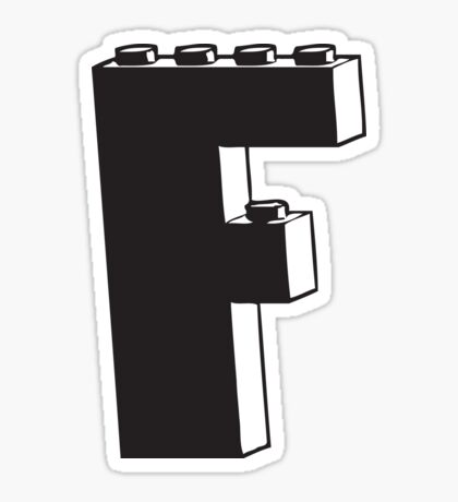 THE LETTER F Sticker