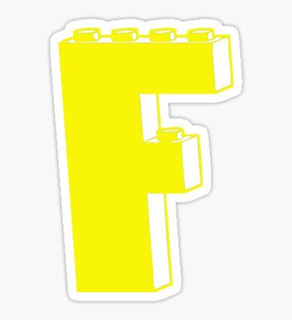 THE LETTER F  Sticker