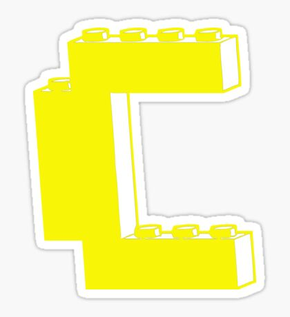 THE LETTER C, by Customize My Minifig Sticker