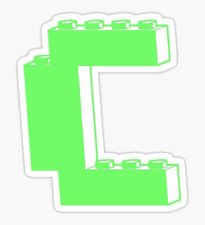 THE LETTER C, Customize My Minifig Sticker