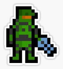 Super Pixel Master Chief Sticker