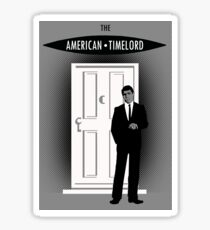 The American Timelord Sticker Sticker