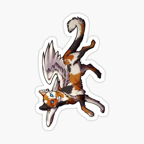 Calico Winged Cat Sticker Sticker