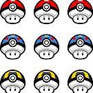 Pokéshrooms Mini-Sticker Pack by Eozen
