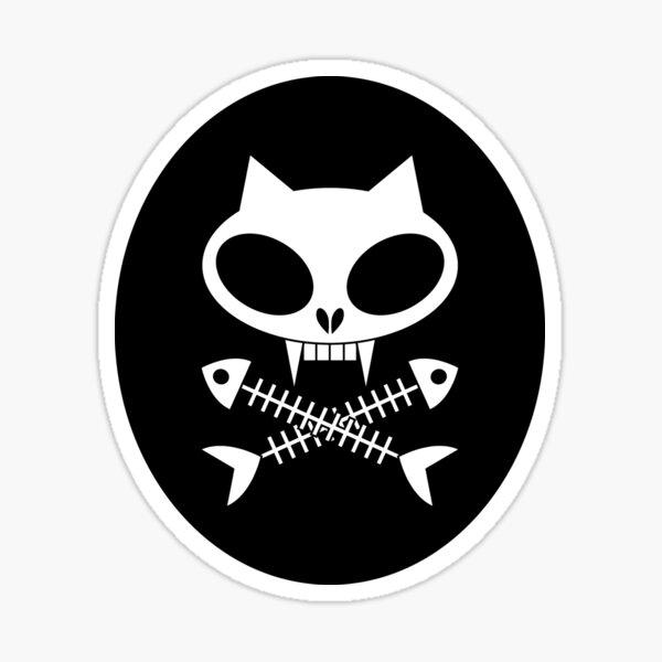 Kitty skull with cross bones 2 Sticker