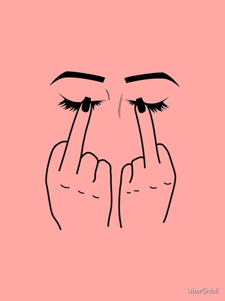 Middle Finger/Eyes by UberGhibli