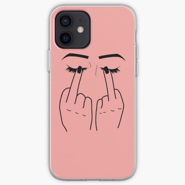 Middle Finger/Eyes iPhone Soft Case
