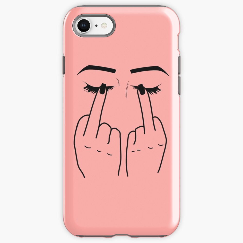 Middle Finger/Eyes iPhone Case & Cover