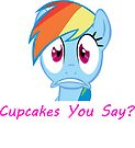 Rainbow Dash, Cupcakes You say? by eeveemastermind