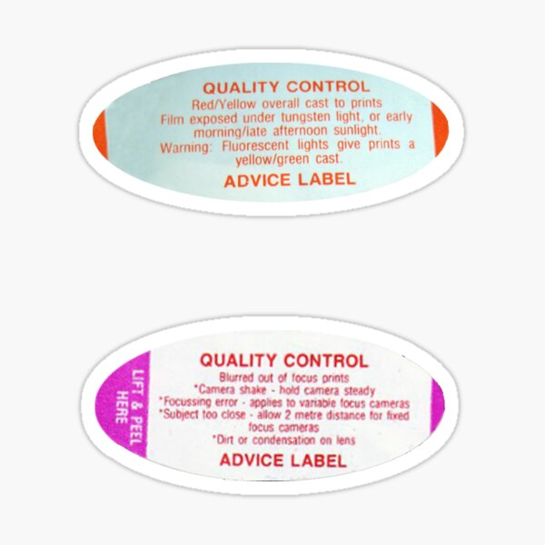 Vintage Boots Quality Control Photo Advice Stickers Sticker