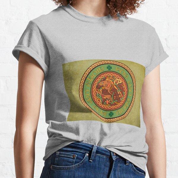 Póg mo thóin/kiss my ass donkey and Celtic Knot Classic T-Shirt