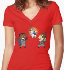 Puft Piñata Women's Fitted V-Neck T-Shirt
