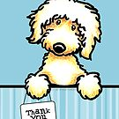Golden Doodle Thank You Cards by offleashart