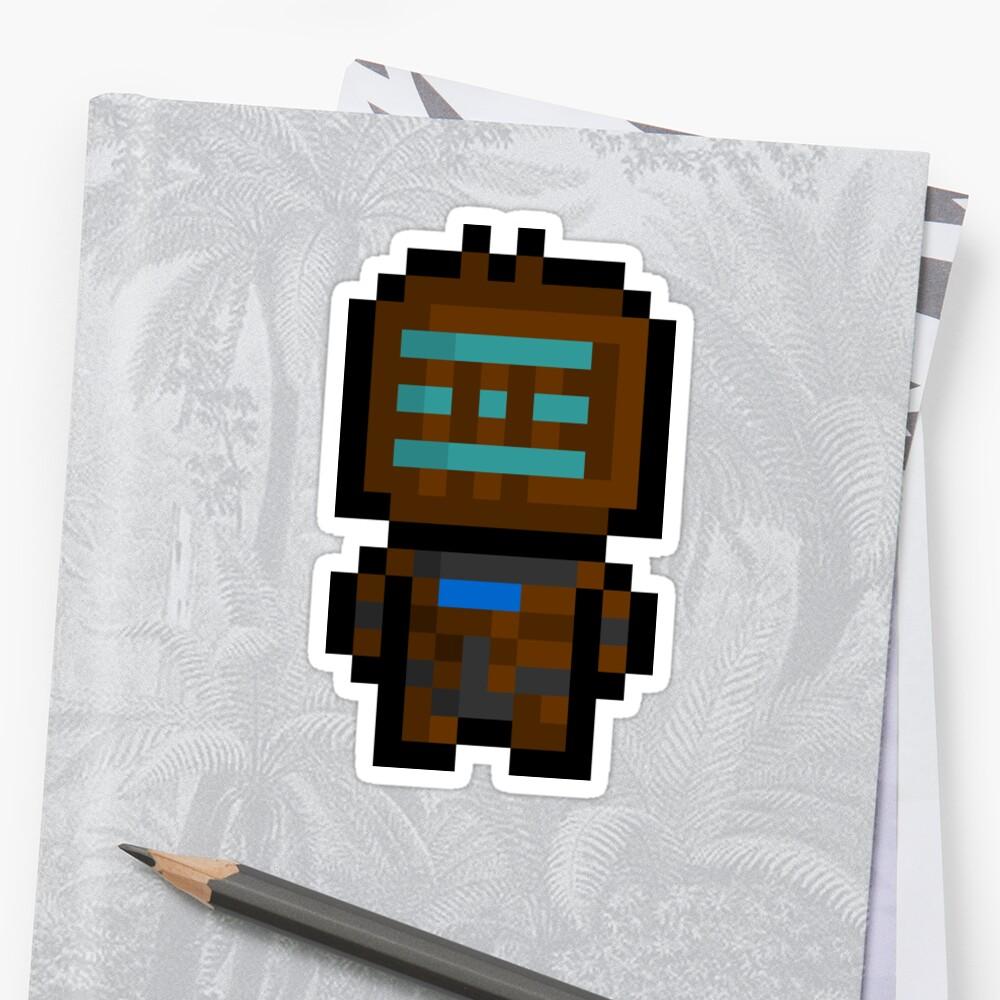 Pixel Isaac Clarke Sticker by PixelBlock
