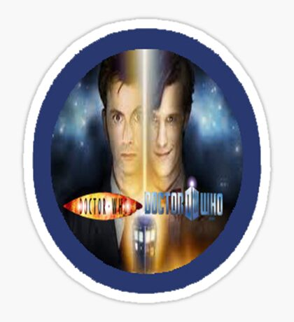 doctor who timelords 10 and 11 Sticker