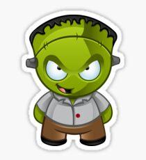 Frankenstein Monster Boy Naughty Grin Sticker