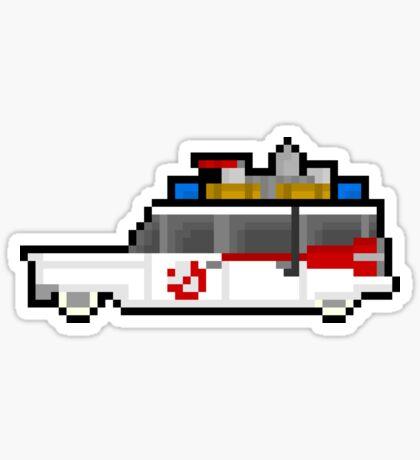 Pixel Ecto-1 Ghostbusters Van Sticker