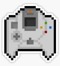 Pixel Dreamcast Controller Sticker Sticker