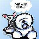 "Old English Sheepdog ""Me and Ewe"" Card by offleashart"