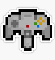 Pixel Nintendo 64 Controller Sticker