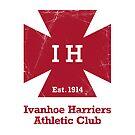 Ivanhoe Harriers Sticker – Worn Logo Design by IvanhoeHarriers