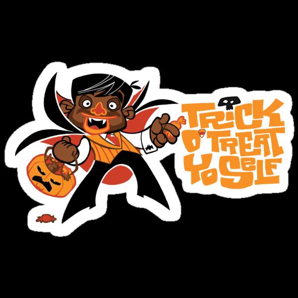 Trick O' Treat Yo Self (sticker) by Tom Kurzanski