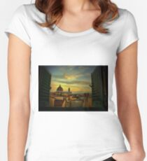 A Window on Florence Women's Fitted Scoop T-Shirt