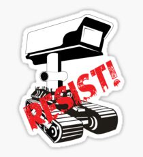 Resist Surveillance Sticker