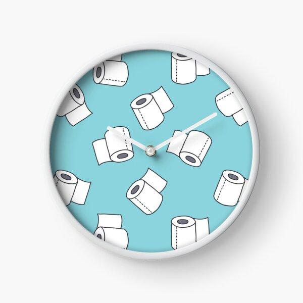 doodle pattern. toilet paper Clock