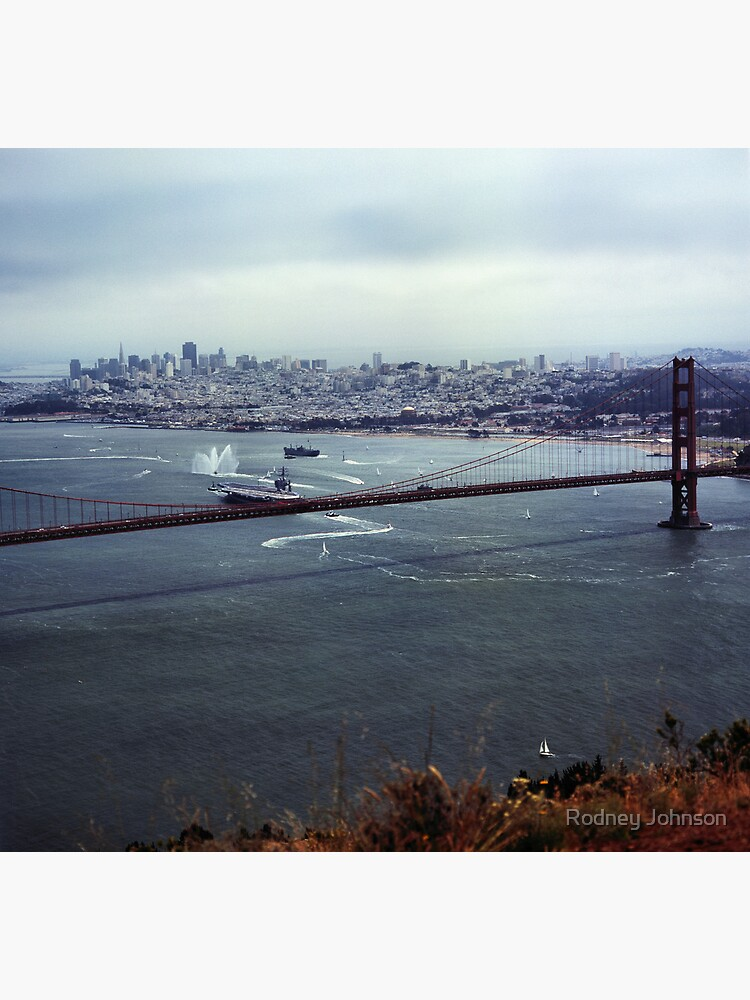 U.S.S. Nimitz - 75th Anniversary of the Golden Gate Bridge by rodneyj46