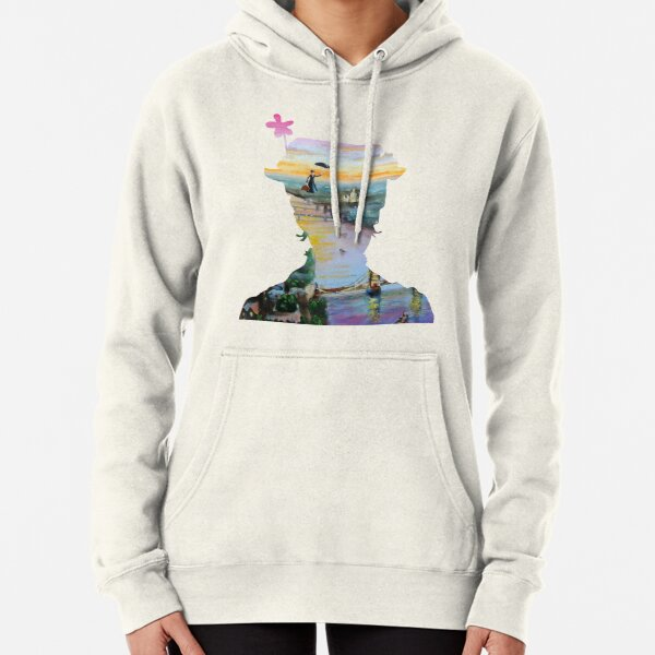Mary Poppins flying above London Pullover Hoodie