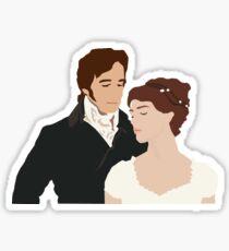 Mr. Darcy and Elizabeth Sticker