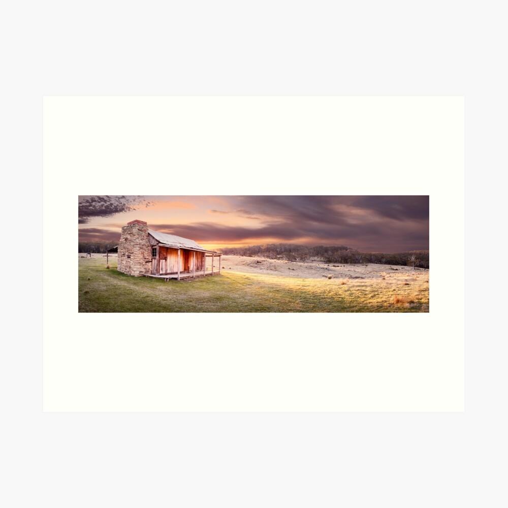 David Brayshaws Hut, Namadgi National Park, ACT, Australia Art Print