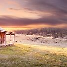 David Brayshaws Hut, Namadgi National Park, ACT, Australia by Michael Boniwell