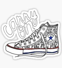 Carry On shoe design Sticker