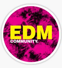 EDM (Electronic Dance Music) Community Sticker